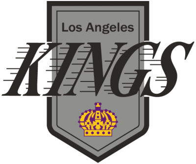 Los Angeles Kings Logo, 1987-1988 - Los Angeles Kings 1988 Logo (400x336), Png Download