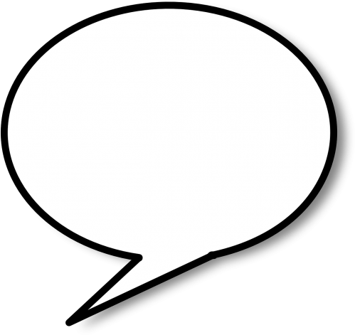 Speech Bubble,speech - Speech Bubble Black Background (500x479), Png Download