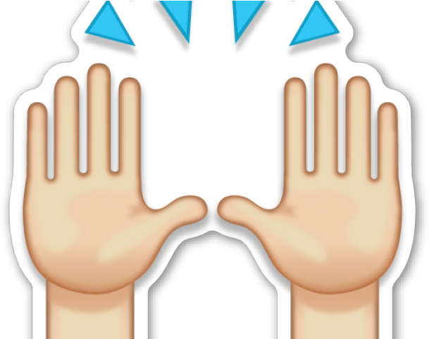 Download Hand Emoji Clipart Person Raising Both Hand In