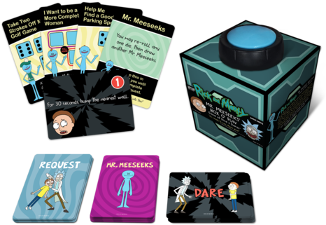 Rick And Morty - Rick And Morty Mr Meeseeks Game (500x347), Png Download