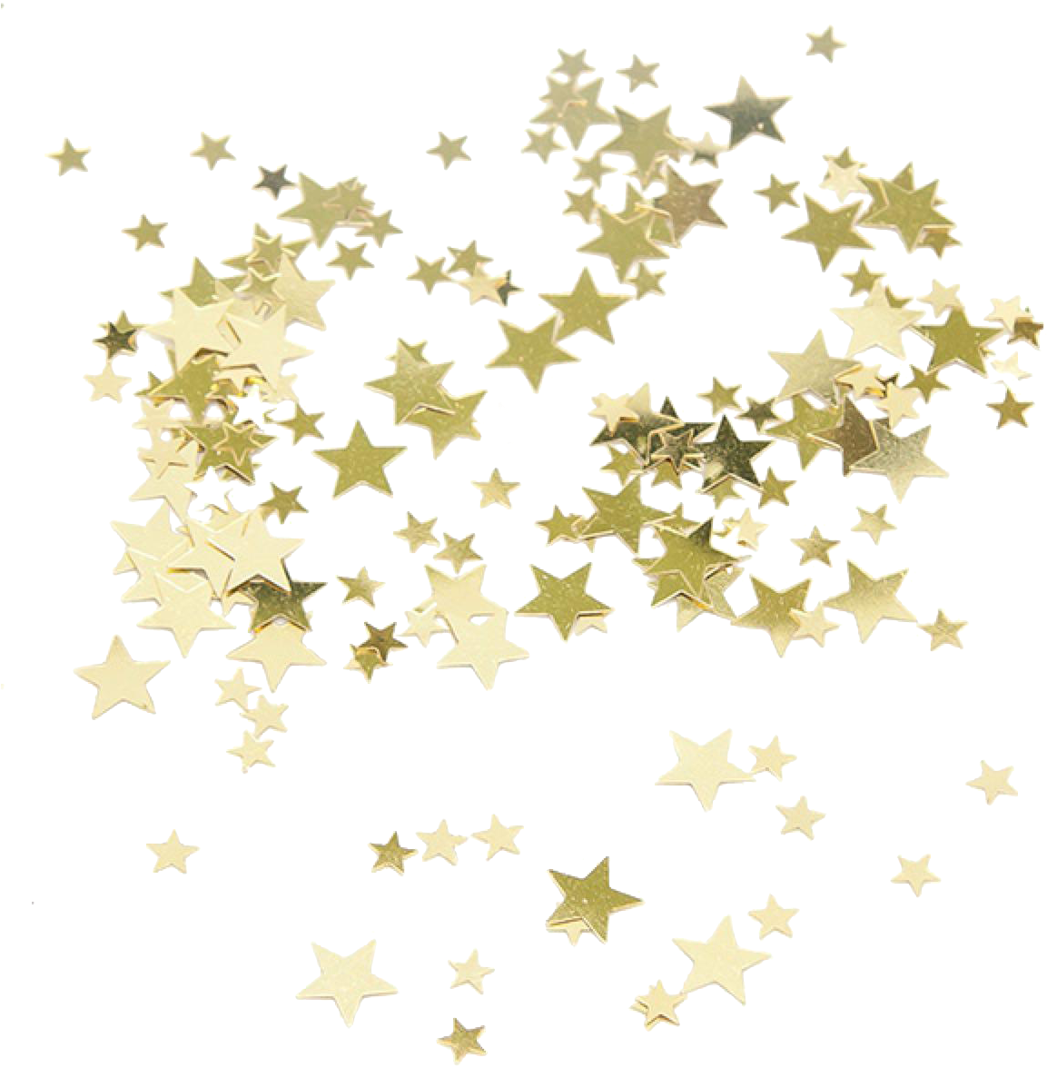 Gold Clip Art Transprent Png Free - Gold Star Confetti Png (1200x1200), Png Download