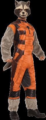 Adult Deluxe Rocket Raccoon Costume - Rocket Raccoon Costume (415x415), Png Download