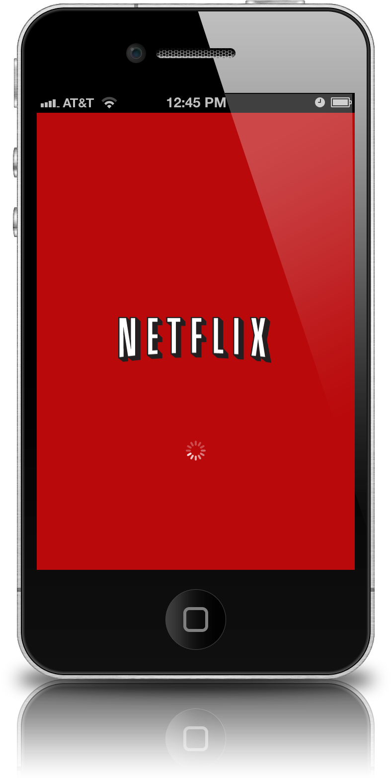 Download Netflix Iphone App Icon - Netflix On An Iphone PNG Image