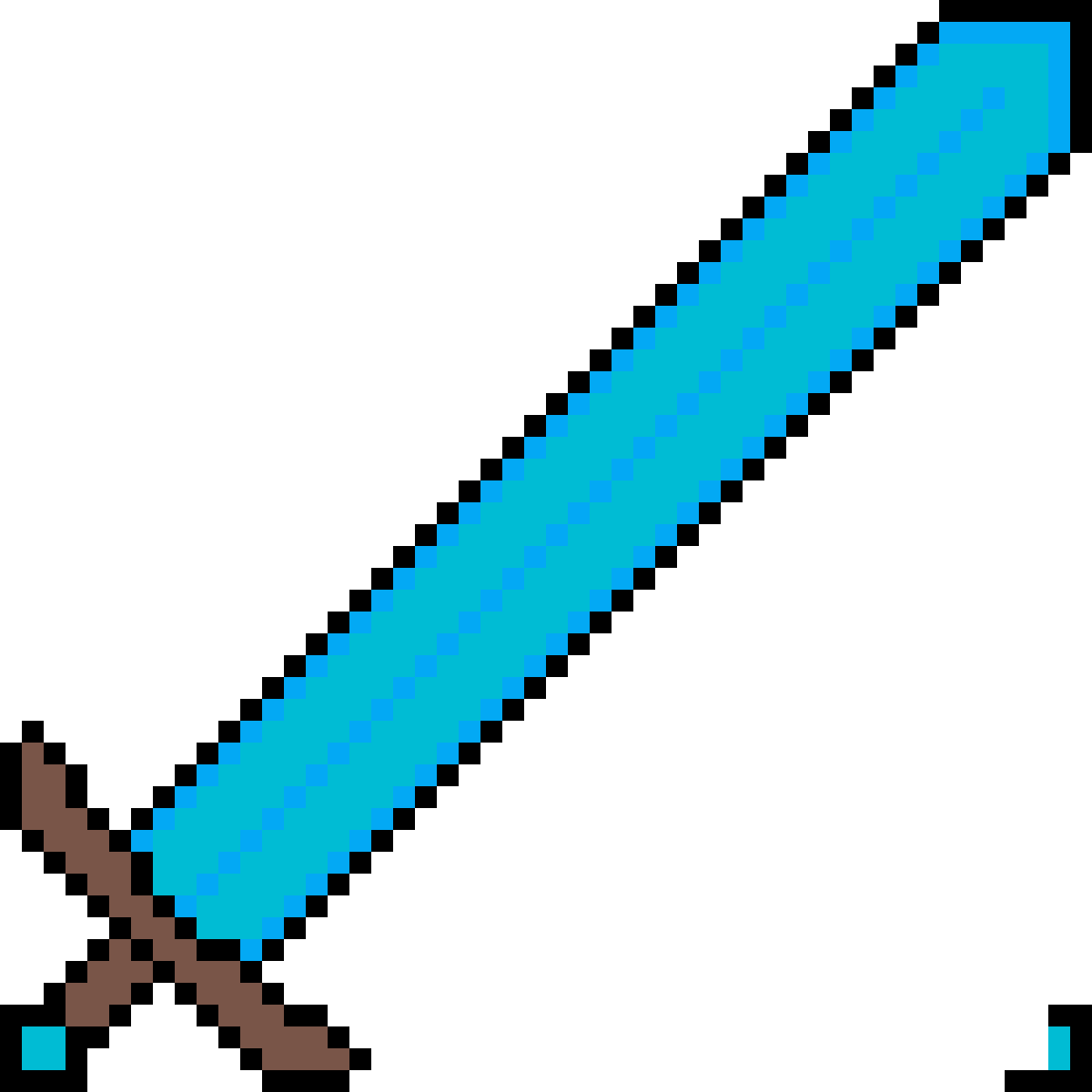Download Diamond Sword For Texture Pack Katana Minecraft Png Image With No Background Pngkey Com