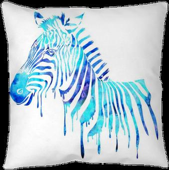 Watercolor Zebra Head - Watercolor Animals Abstract (400x400), Png Download