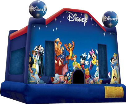 Rent The World Of Disney Bounce House - Disney Bounce House (500x338), Png Download