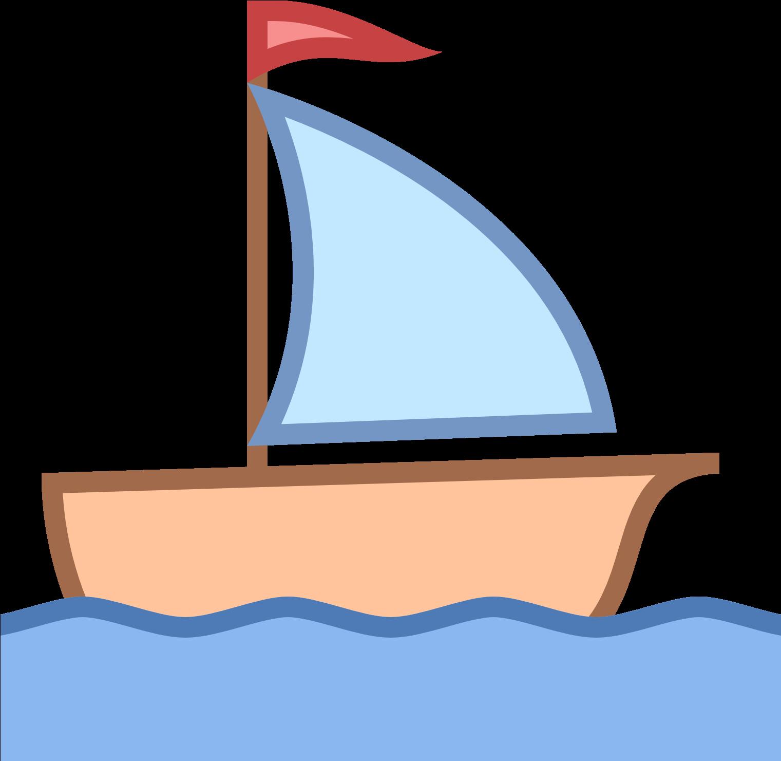 Sailboat Clipart Boating - Sail Boat Clip Art (1600x1600), Png Download