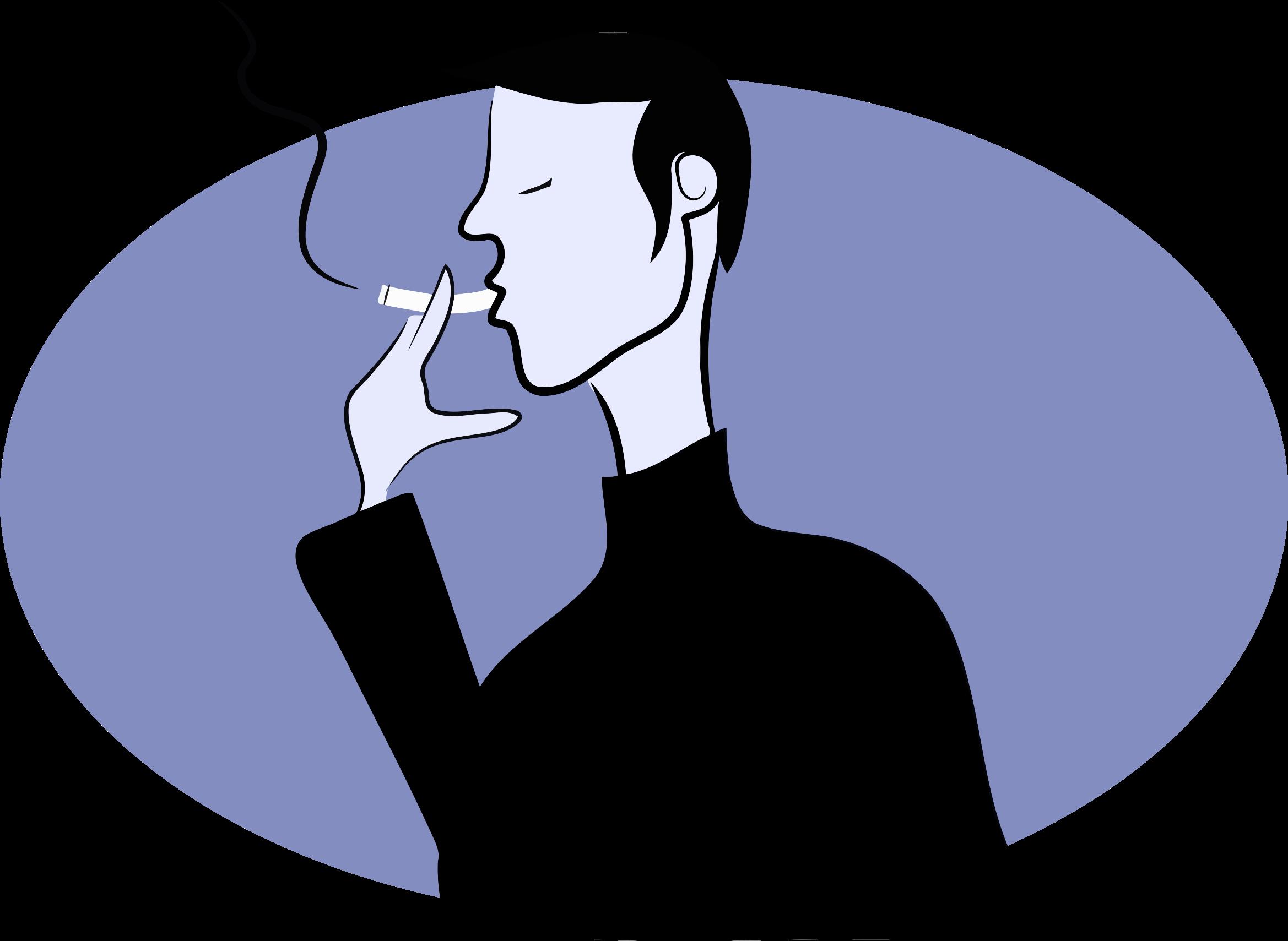 Medium Image - Man Smoking Clipart Png (780x571), Png Download