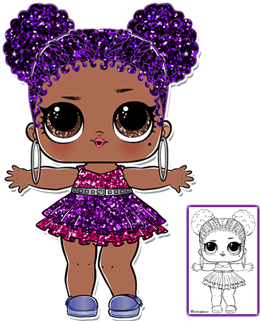Download Purple Queen Lol Doll Coloring Page Lol Surprise