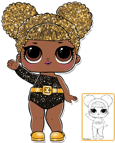 Download Glitter Queen Bee Coloring Page Lol Surprise Queen Bee Glitter Png Image With No Background Pngkey Com