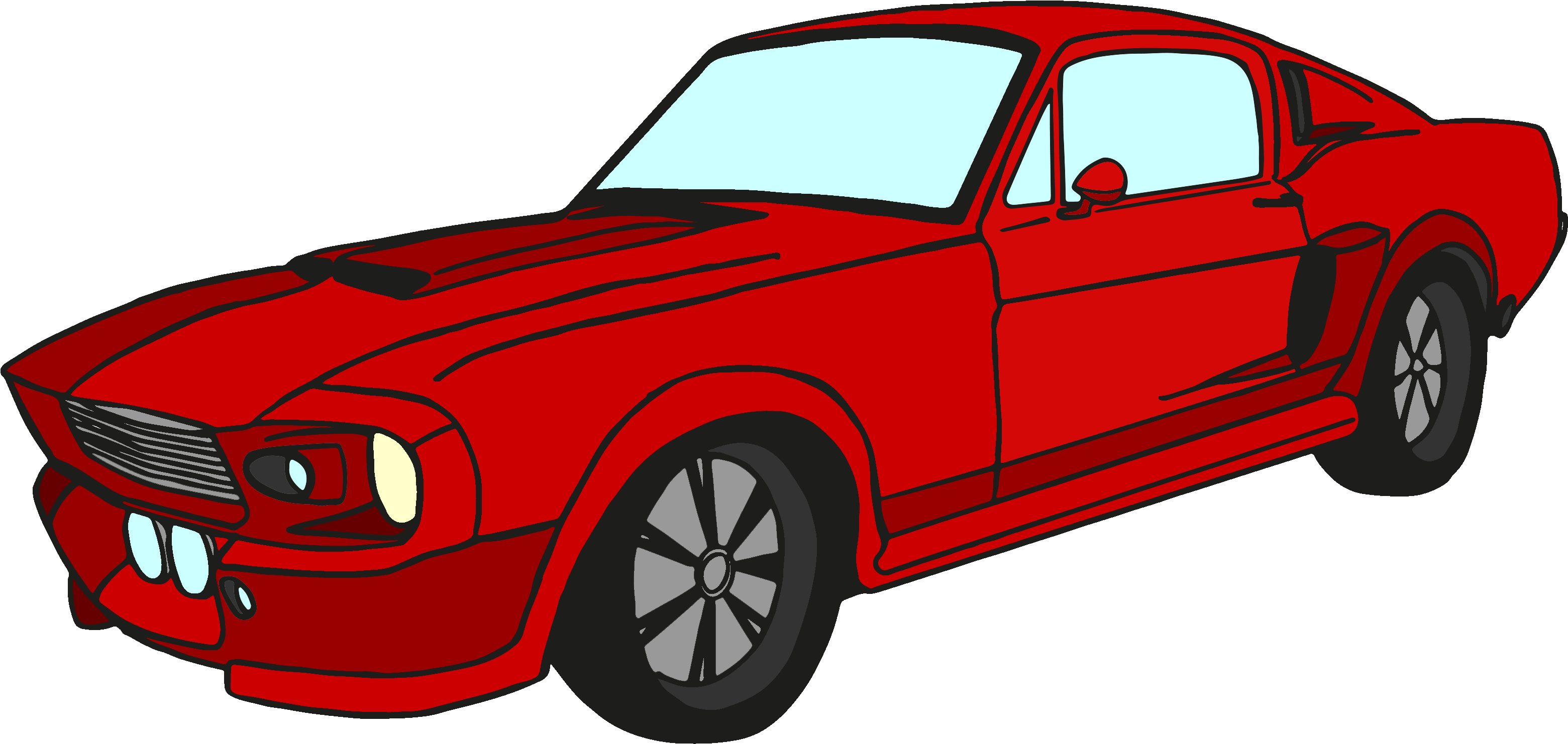 Download Vector Royalty Free Stock Classic Mustang Car Clipart