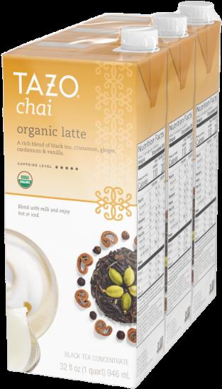 Tazo Organic Chai Latte Concentrate Black Tea 32 Oz - Tazo Organic Chai Tea Latte 32 Oz (600x600), Png Download
