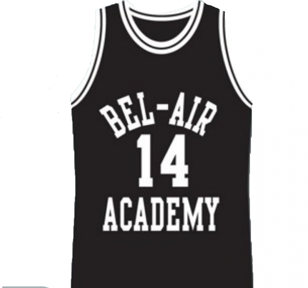 Will Smith - Bel Air Academy Basketball Jersey Black Or Red (1000x1231), Png Download