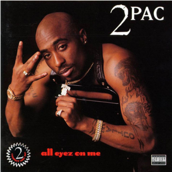 20 Albums Turning 20 - 2pac All Eyez On Me (608x342), Png Download