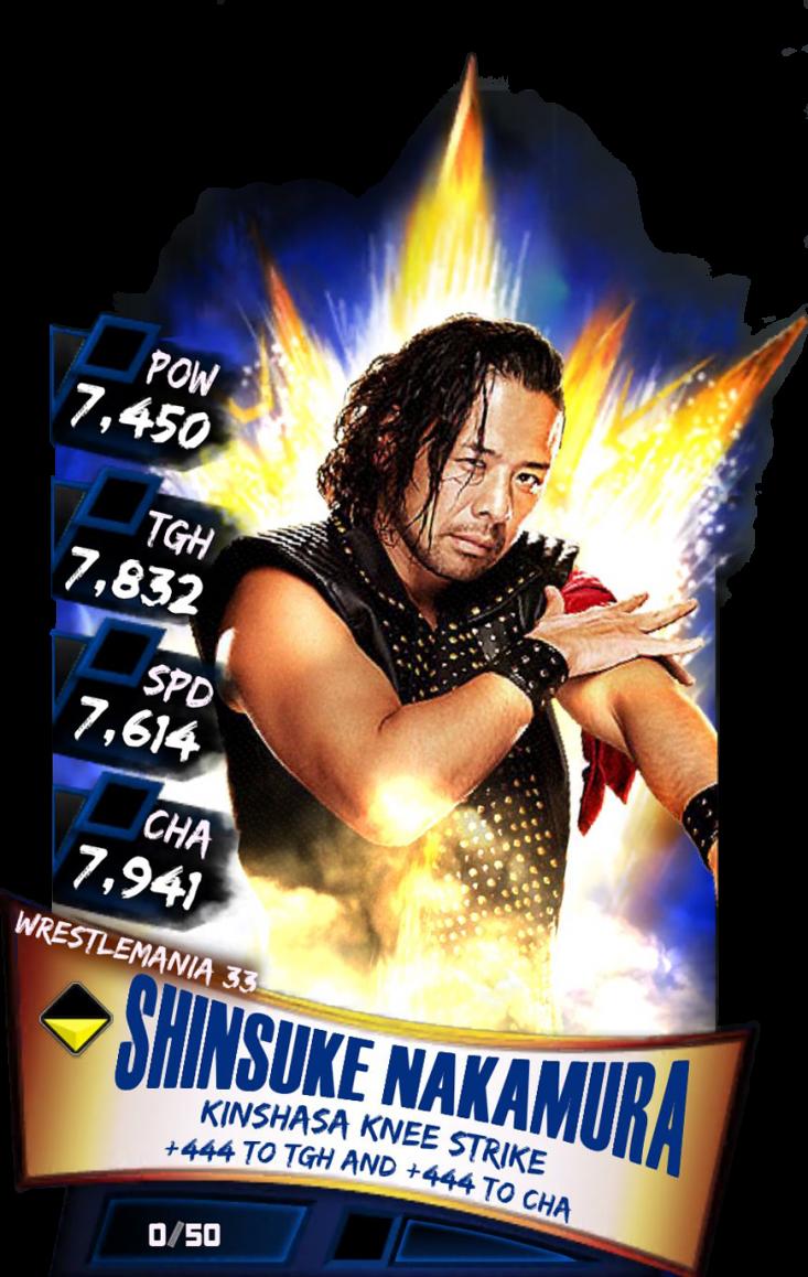 Shinsukenakamura S3 14 Wrestlemania33 - Wwe Supercard Wrestlemania 33 Carmella (733x1158), Png Download