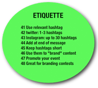 Hashtag Etiquette - Etiquette In Instagram Hashtag (400x374), Png Download