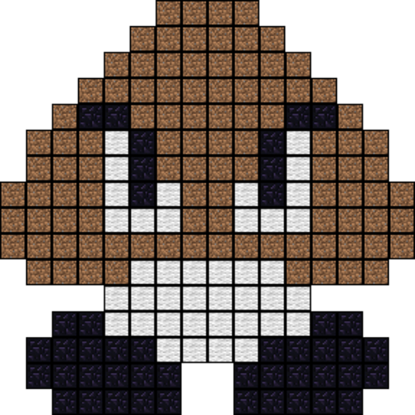 Download Minecraft Pixel Art Mario Goomba Png Image With No