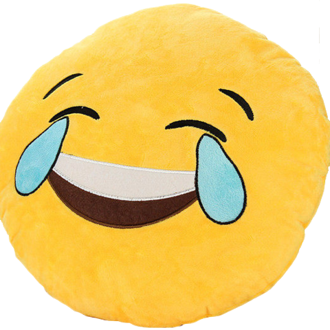 Emoji Crying Laughing Pillow Getonfleek - Crying Face Emoji Distorted (480x480), Png Download