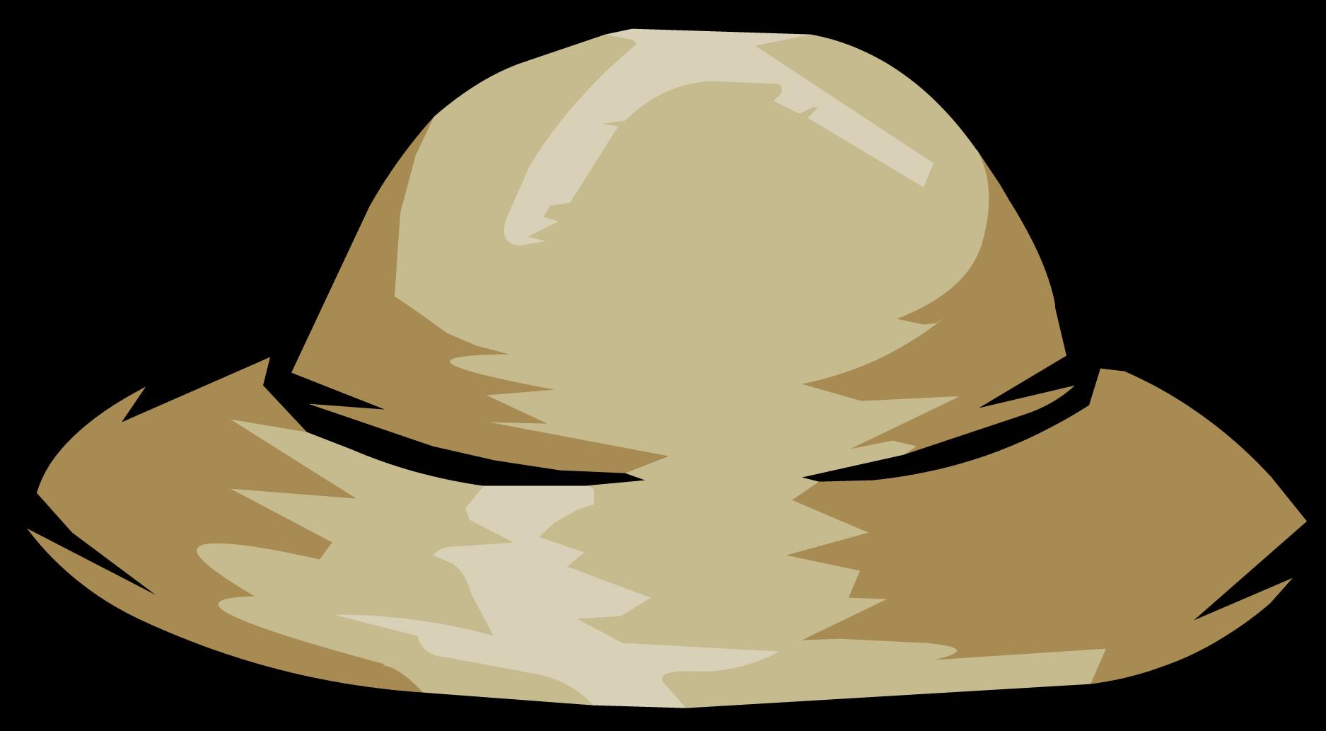 Drawn Hat Safari Hat - Safari Hat Clip Art (1875x1033), Png Download