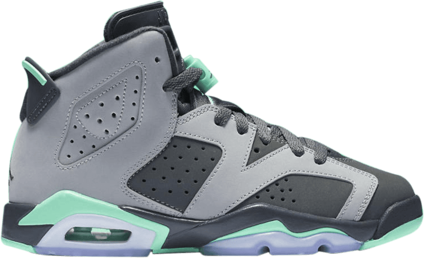 reputable site 1ca33 60379 Air Jordan 6 Gs  green Glow  - Girls Jordan Retro 6 Basketball Shoe -