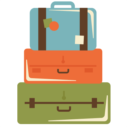 Luggage Clipart Stacked Suitcase - Black Luggage Clipart, HD Png Download -  kindpng