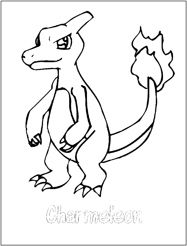 Download Charmander Coloring Page With Charmeleon Pokemon ...