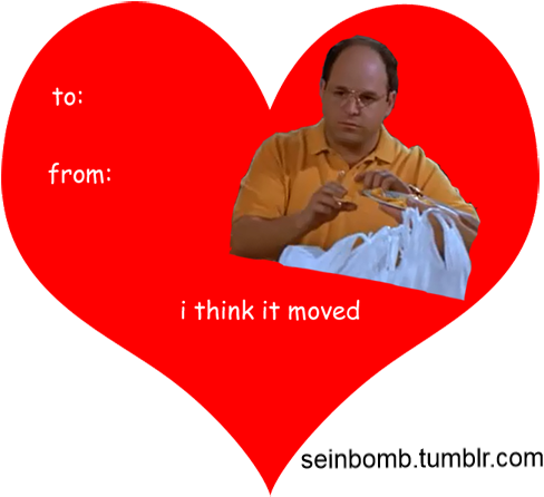 Seinfeld Valentine's Day Cards - Valentines Day Meme Seinfeld (513x500), Png Download