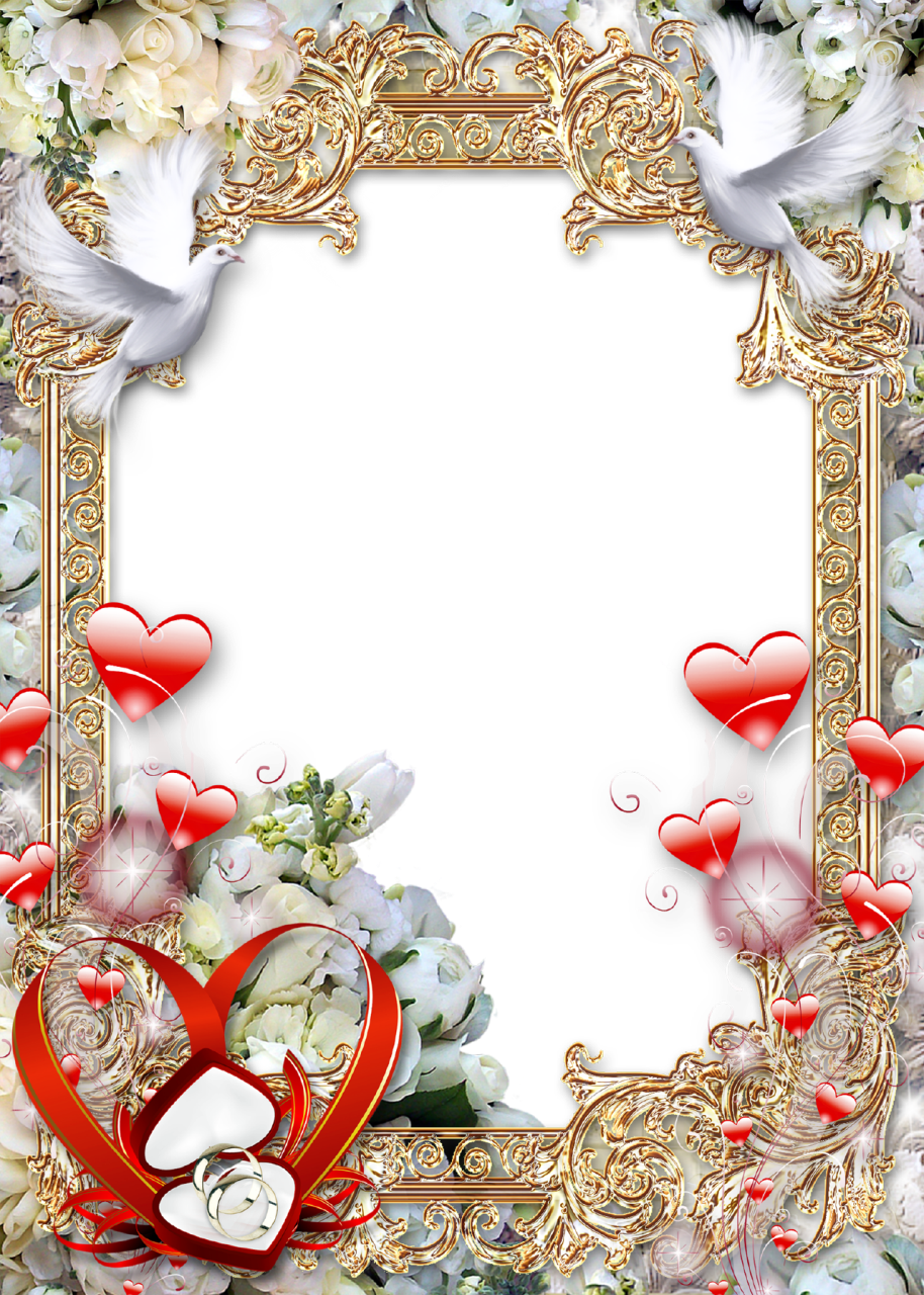 Download Photo Frame Golden Luxury - Wedding Photo Frame Png