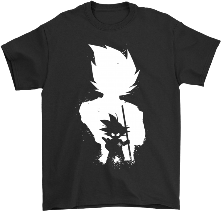 Download Son Goku Black And White Dragon Ball Shirts T Shirt Black Anime Wallpaper Iphone Png Image With No Background Pngkey Com