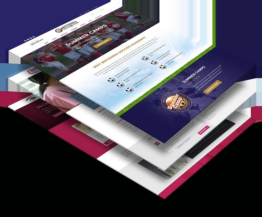 Custom Website Design In Houston - Web Design Website Mockup (895x742), Png Download