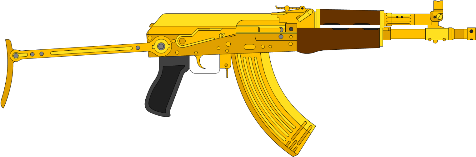 Ak 47png Roblox Download Gold Ak47 Png Ak 47 Gold Png Png Image With No Background Pngkey Com