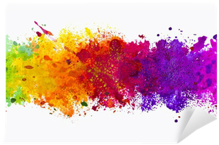 Abstract Artistic Watercolor Splash Background Self-adhesive - Color Splash Background Png (400x400), Png Download