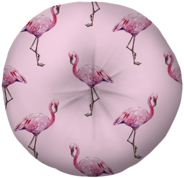 Seamless Watercolor Illustration Of Tropical Pink Flamingo - Watercolor Painting (400x400), Png Download