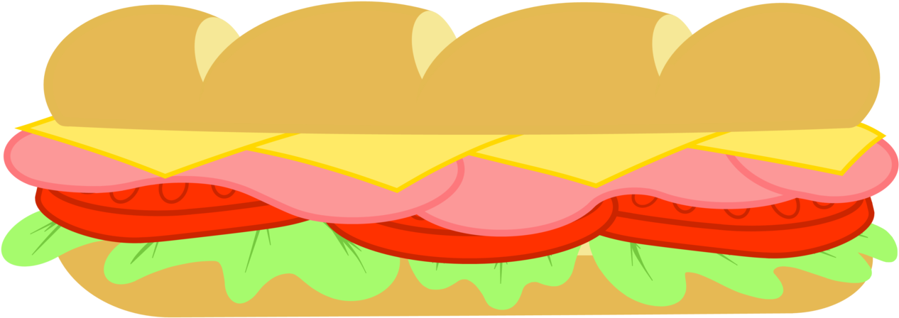 Svg Free Library Collection Of Subway High Quality - Transparent Background Sandwich Clipart (1280x473), Png Download