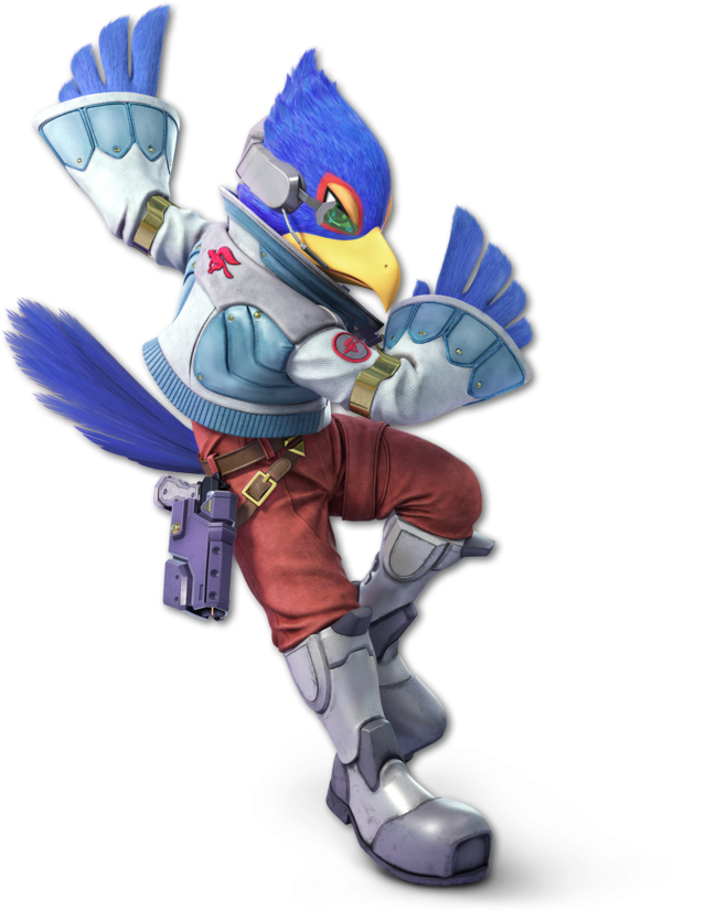 Here Are All Of The Characters So Far Revealed For - Super Smash Bros Ultimate Falco (680x830), Png Download