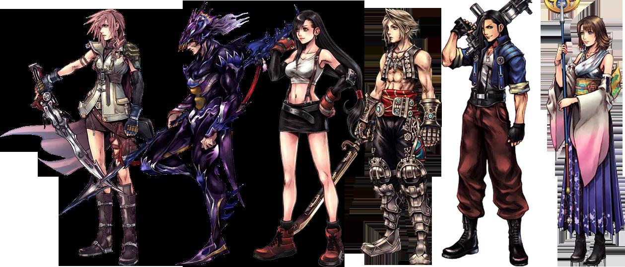 Art - Final Fantasy Character Design (1259x538), Png Download