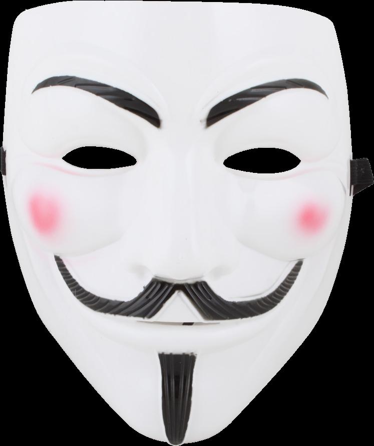 Download White V For Vendetta Face Mask Guy Fawkes Face Political