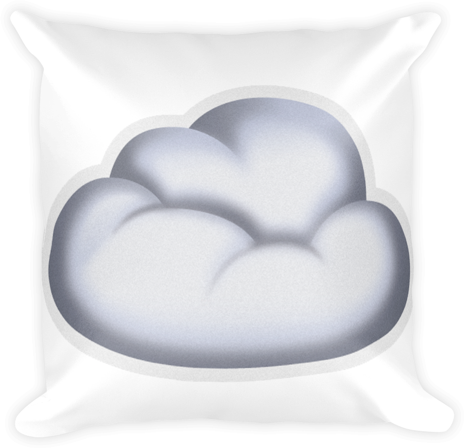 Download Emoji Pillow - Cloud - Emoji PNG Image with No