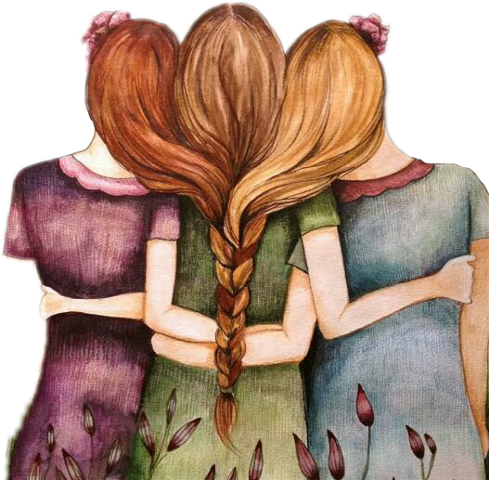 Download 3 Girl Best Friends Cartoon Png Image With No Background