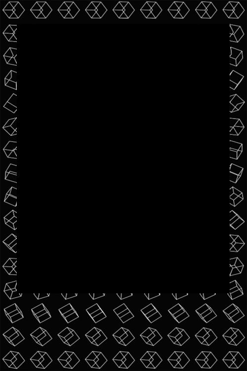 Exo, Frame, And Polaroid Image - Moldura Polaroid (500x750), Png Download