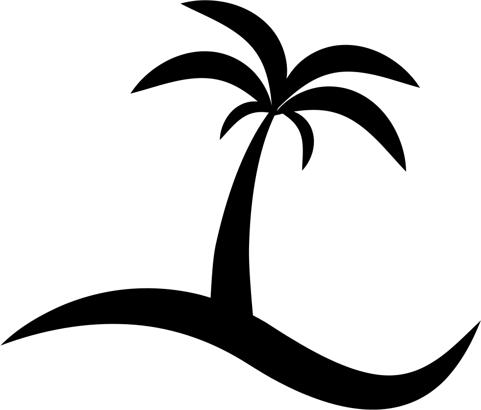 Download Island With A Palm Tree Vector - Palma Vector PNG Image ...