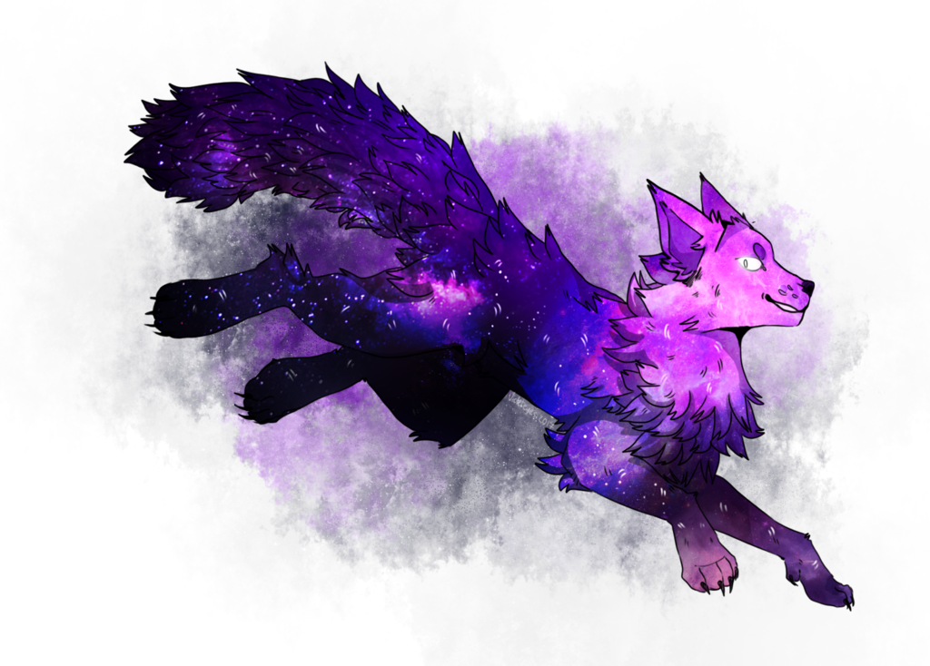 Best Of Galaxy Background Galaxy Wolf Cool Wallpaper Photos