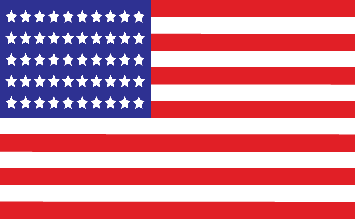 American Flag Vector Png - Us Flag 50 Stars (1230x761), Png Download
