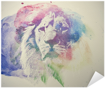 Watercolor Painting Of Lion - Watercolor Lions Png (400x400), Png Download