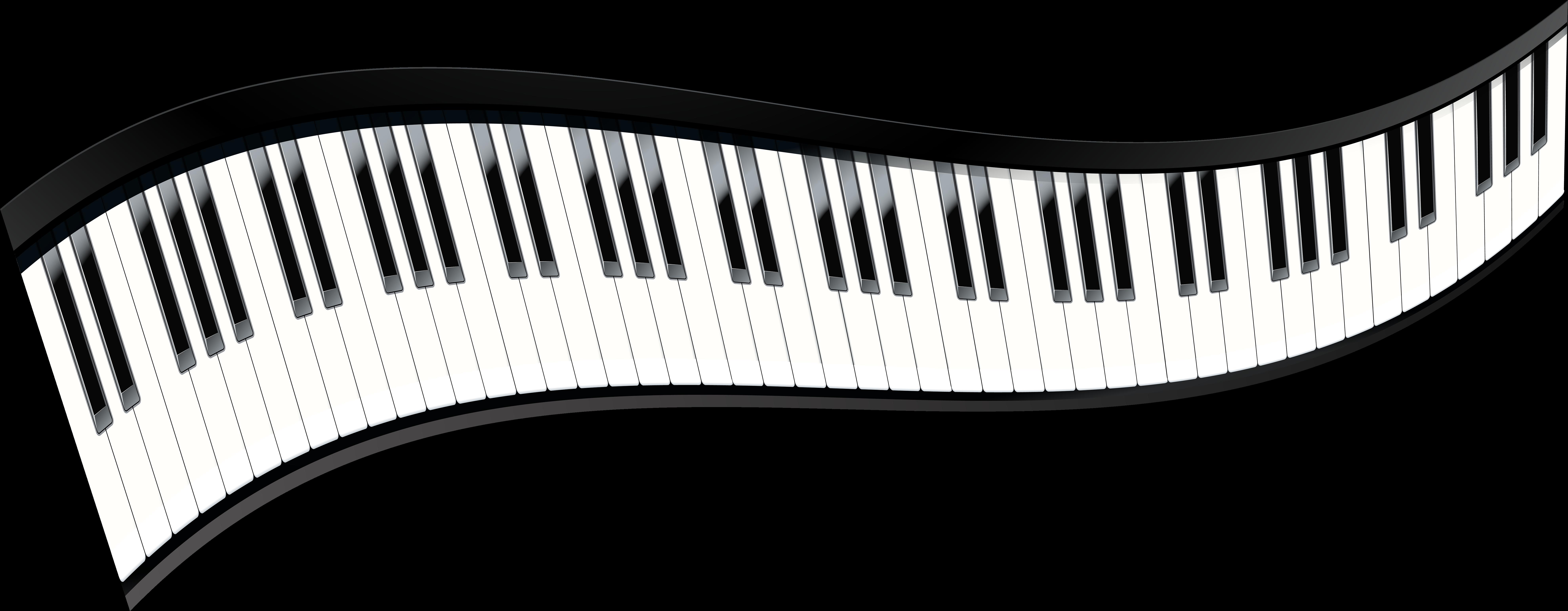 картинка клавиатура фортепиано на прозрачном фоне несложно