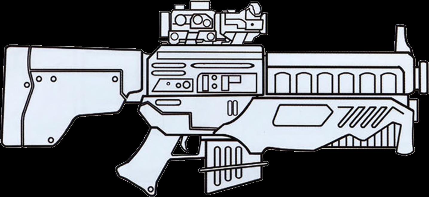 Dh-x Heavy Blaster Rifle - Blastech Dh X Heavy Blaster Rifle (1570x710), Png Download