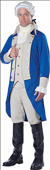George Washington Adult Costume - George Washington Costume Mens (400x544), Png Download