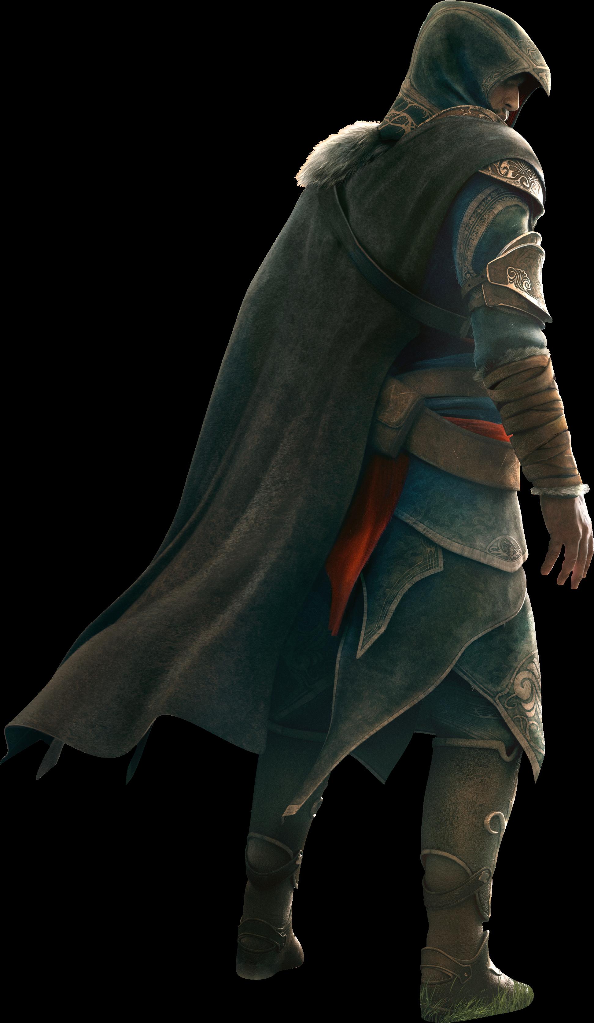 Acr Revelations Ezio Render - Assassin's Creed Ezio Png (1984x3418), Png Download
