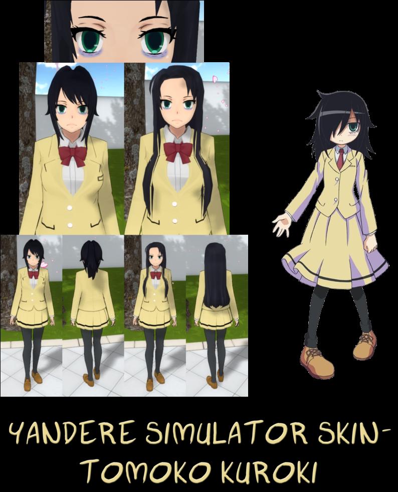 Download Yandere Simulator Tomoko Kuroki Skin Png Rwby