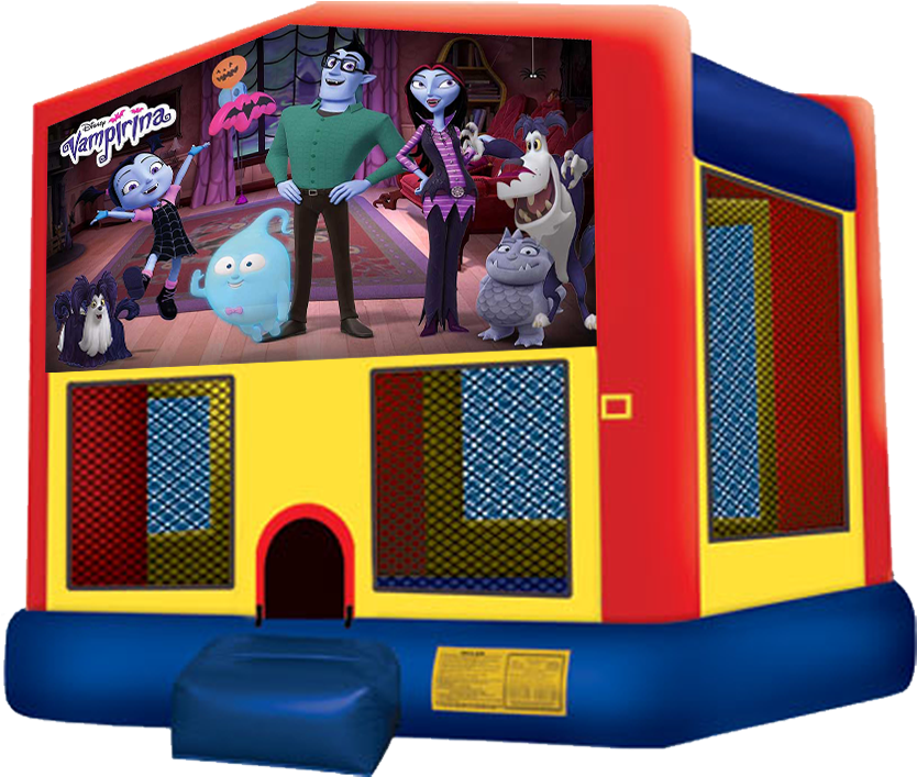 Vampirina Bounce House Rentals In Austin Texas From - Unicorn Bounce House (864x792), Png Download
